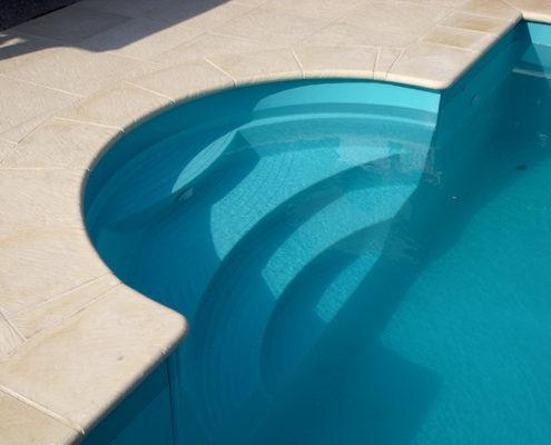 scalinata piscina